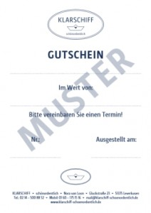 Klarschiff-Gutschrift-Muster